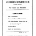 International Council Correspondence Vol 1